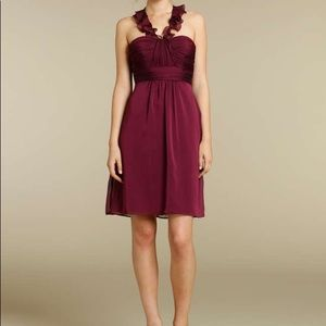 Alvina Valenta Maids Dress in Burgundy